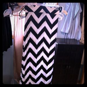 A New Approach maxi chevron skirt